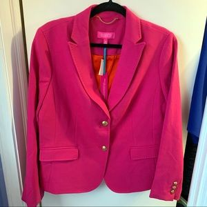 TALBOTS WOOL BLEND LIMITED EDITION FUCHSIA BLAZER